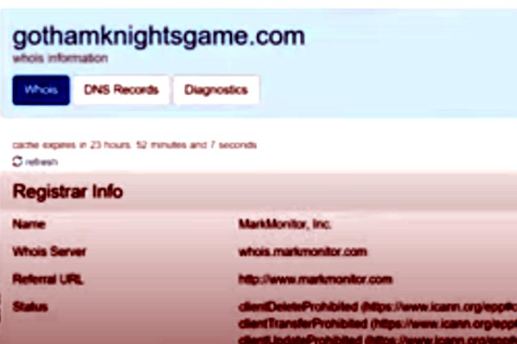 Screenshot GothamKnightsgame-MarkMonitor