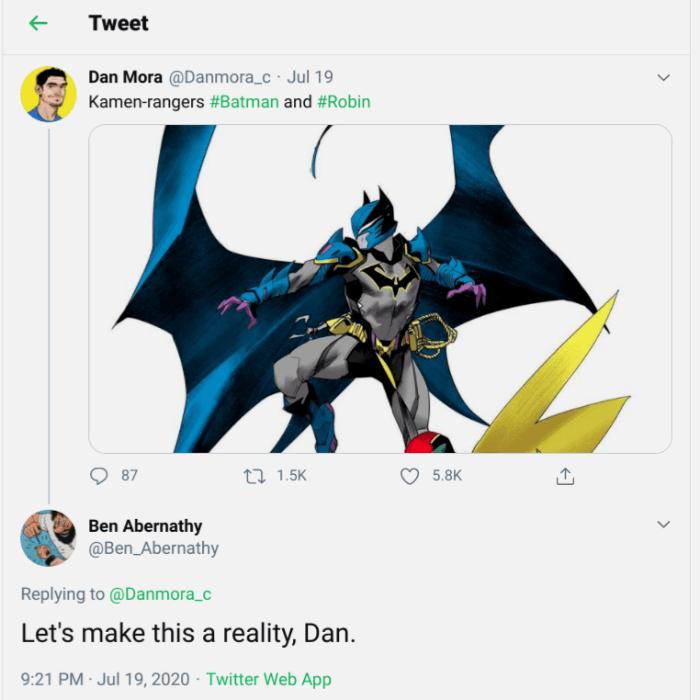 Ben Abernathy Tweeting Dan Mora