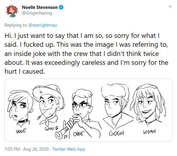 She-Ra And The Princesses of Power Creator Noelle Stevenson Issues Apology After Being Accused of Bigotry