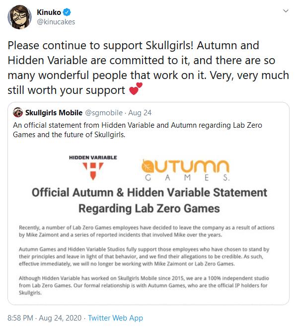Several Staff Members Leave Skullgirls Studio Lab Zero Games Over Lead Designer Mike Zaimont's Alleged Behavior