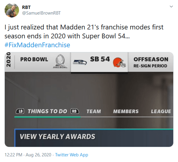 Madden Players Unite To Voice Disappointment Over Madden 21's Franchise Mode to EA