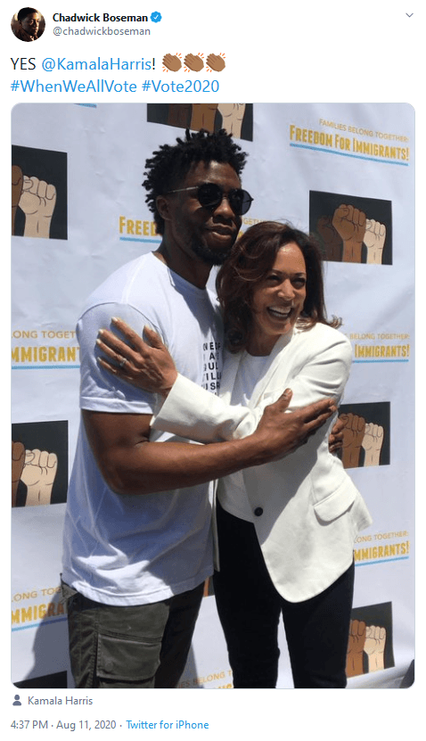Journalists Use The Passing of Black Panther Actor Chadwick Boseman to Promote Vice Presidential Candidate Kamala Harris