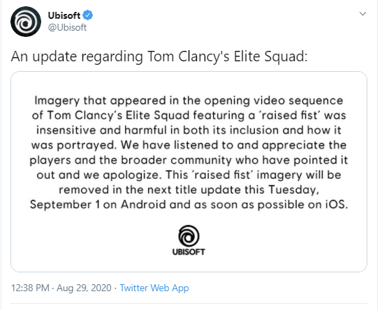 Ubisoft's Tom Clancy's Elite Squad Removes 'Black Power' Imagery After Being Accused of Casting Black Lives Matter Protestors As Villains