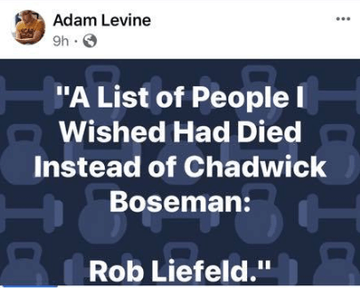 "Topps' Licensing Manager Wishes Creator Rob Liefeld ""Died Instead of Chadwick Boseman"""