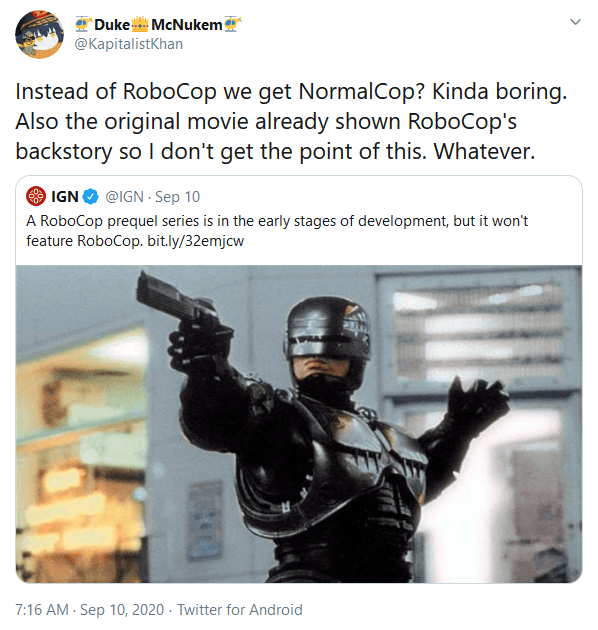 RoboCop Prequel TV Series in Development - Will Not Feature RoboCop!
