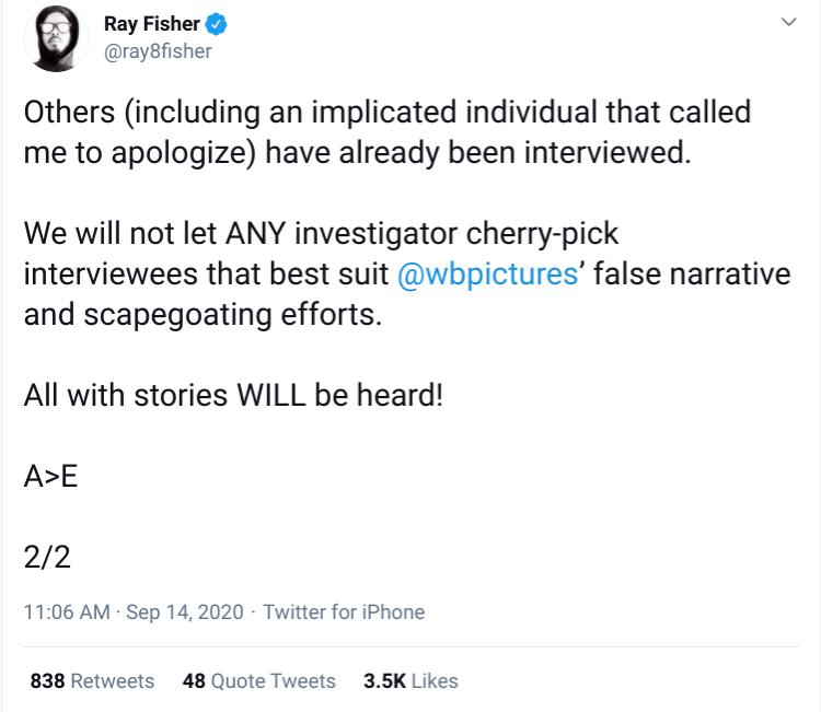 Screenshot-Ray Fisher Tweet 9-14 2