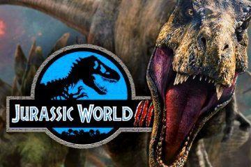 Jurassic World-Dominion Logo and T-Rex