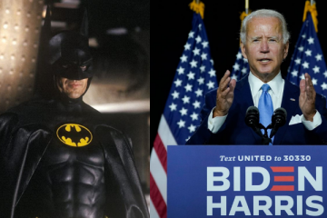 Michael Keaton and Joe Biden