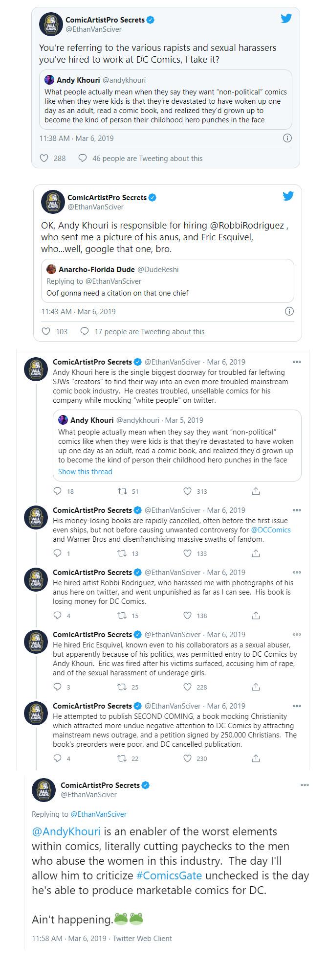 Ethan van Sciver-Andy Khouri-tweets