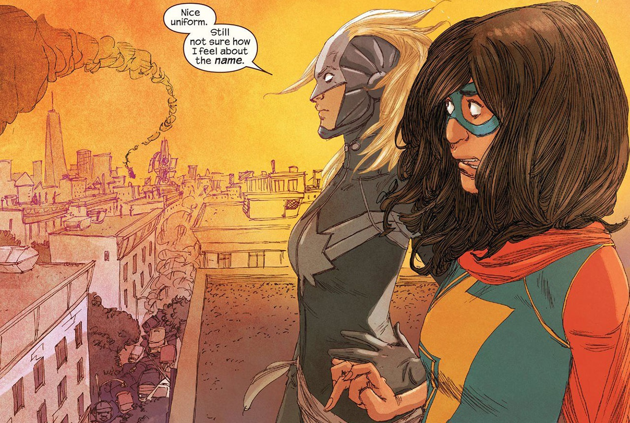 Leaked Set Photos Present First Look at Iman Vellani as Ms. Marvel in Upcoming Disney Plus Series! - Bounding Into Comics