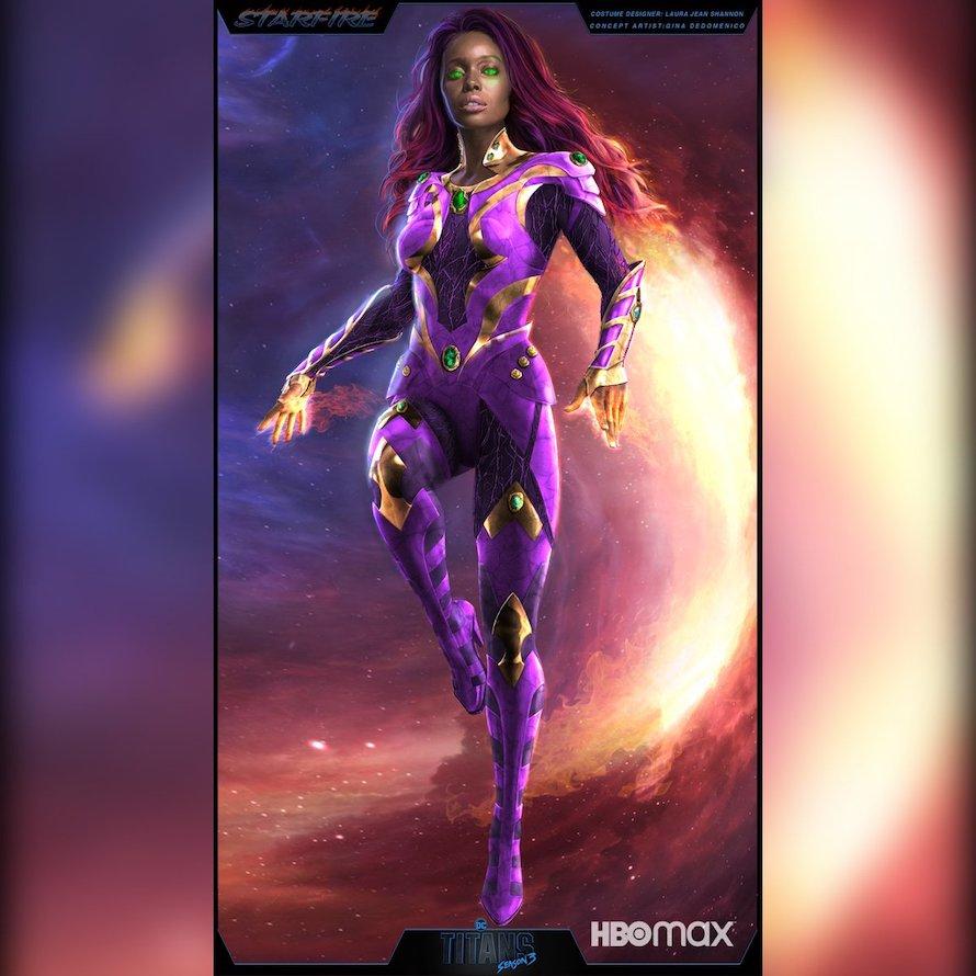 Starfire costume-Anna Diop in Titans