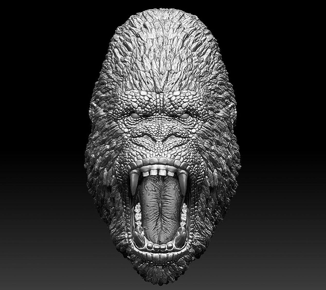 Godzilla-Kong Hybrid Head