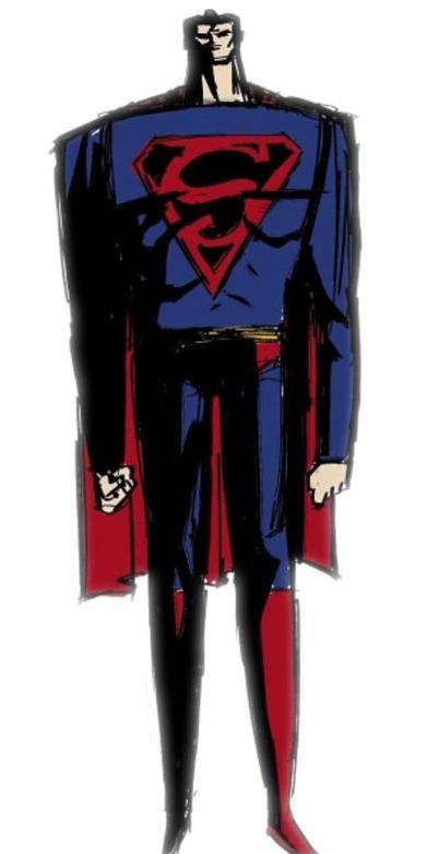 Superman-Design By Samurai Jack Creator