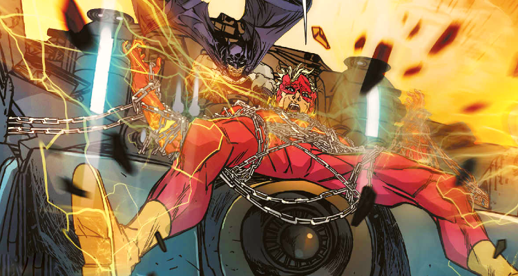 Batman Metal-Red Death-Flash chained