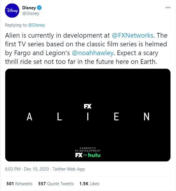 Alien TV Series From Noah Hawley Headed to FX