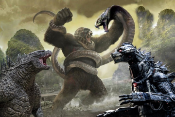 Godzilla; Kong on Skull Island vs Mechagodzilla and snake