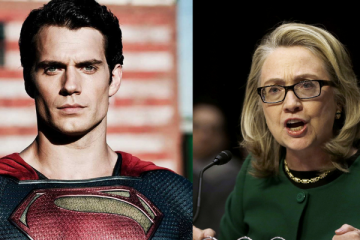 Hillary Clinton and Henry Cavill