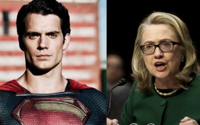 Hillary Clinton and Henry Cavill