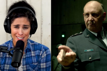Nick Searcy and Sarah Silverman